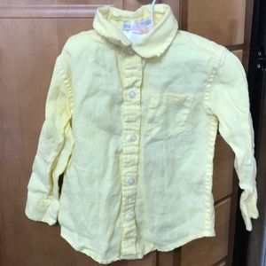 JANIE AND JACK Linen button up 18-24M